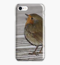 Robin At Deli Door iPhone Case/Skin