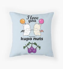 I love you more than kupo nuts Throw Pillow