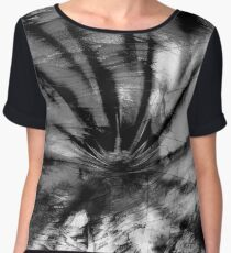 Vortex (charcoal) Chiffon Top