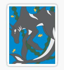Wolf of the Sea Hippocampus Sticker