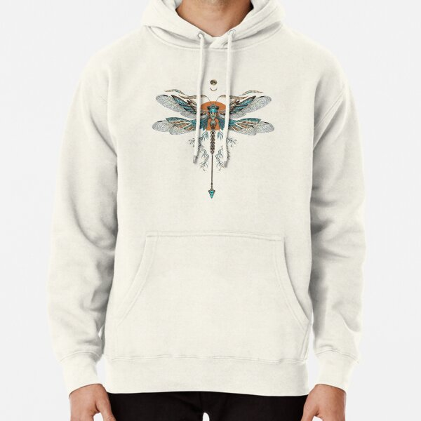 Dragon Fly Tattoo Pullover Hoodie