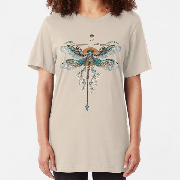 Dragon Fly Tattoo Slim Fit T-Shirt