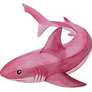 Shark in pink by emy-ai