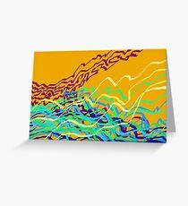 Coastal Frequencies 1 Abstract Art Greeting Card
