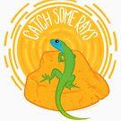 Catch Some Rays - Lizard by BlueAsterStudio