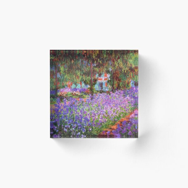 The Artist's Garden at Giverny by Monet Acrylic Block