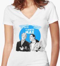 ITALIAN CINEMA - IL CONTE MAX Women's Fitted V-Neck T-Shirt