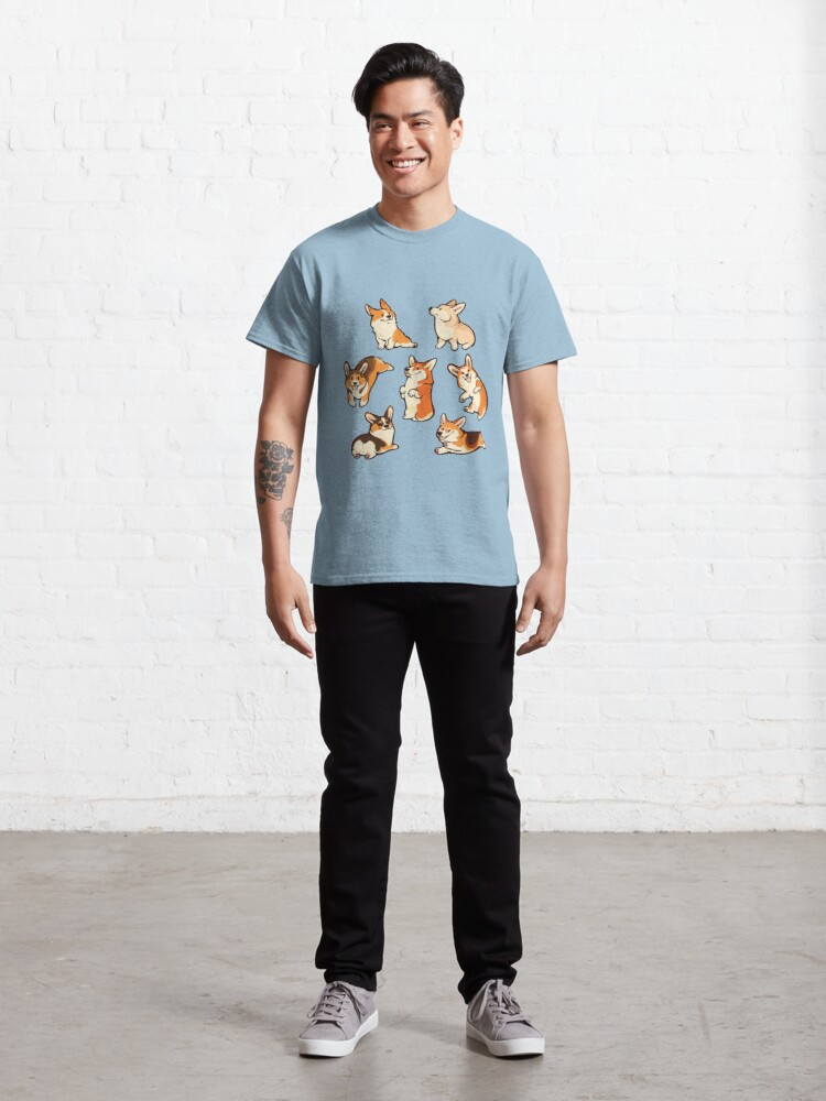 Alternate view of Jolly corgis in blue Classic T-Shirt