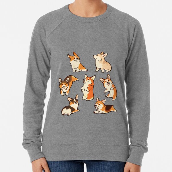 Lovey corgis in pink Lightweight Sweatshirt