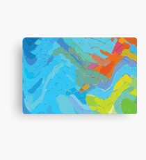 Contoured Abstraction Canvas Print