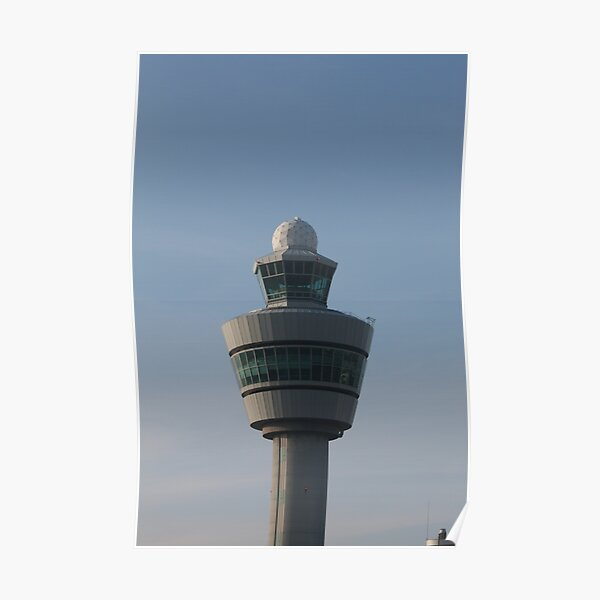 Amsterdam Schiphol Airport - Control tower Poster