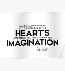 holiness, truth - john keats Poster