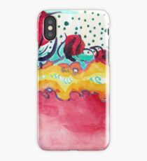Caterpillar, abstract ink painting. iPhone Case