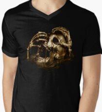 Black Sails Golden Skull Men's V-Neck T-Shirt