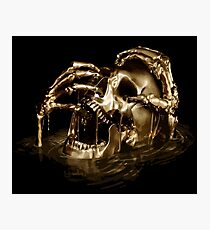 Black Sails Golden Skull Photographic Print