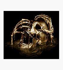 Black Sails Golden Skull Photographic Print