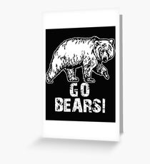 Go Bears Sports Team Games  Greeting Card