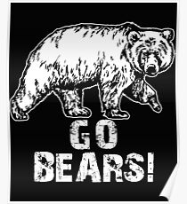 Go Bears Sports Team Games  Poster
