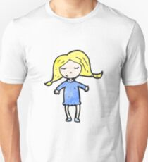 cartoon pretty blond girl Unisex T-Shirt