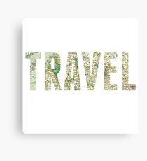 Travel Typography Canvas Print