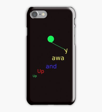 UP UP AND AWAY - IN LEGGINGS, TEES, SKIRTS, BAGS, SCARVES, MUGS ETC iPhone Case/Skin