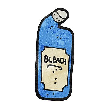 cartoon bleach bottle by octoberarts