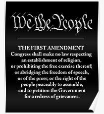 We The People - First Amendment Poster