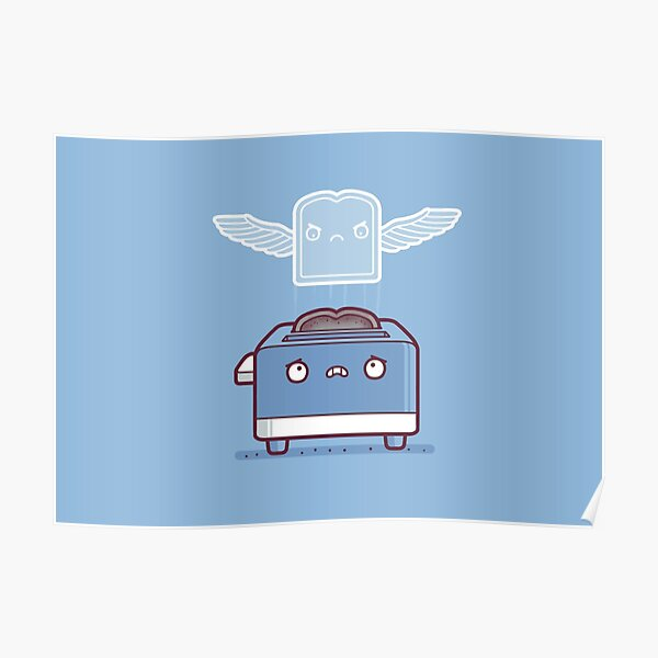Toast ghost Poster