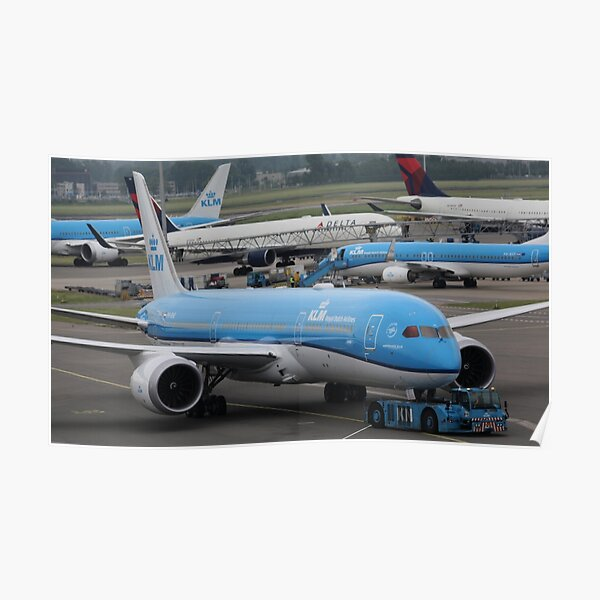 KLM Boeing 787 Poster