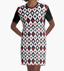 Playing cards suit symbols Graphic T-Shirt Dress