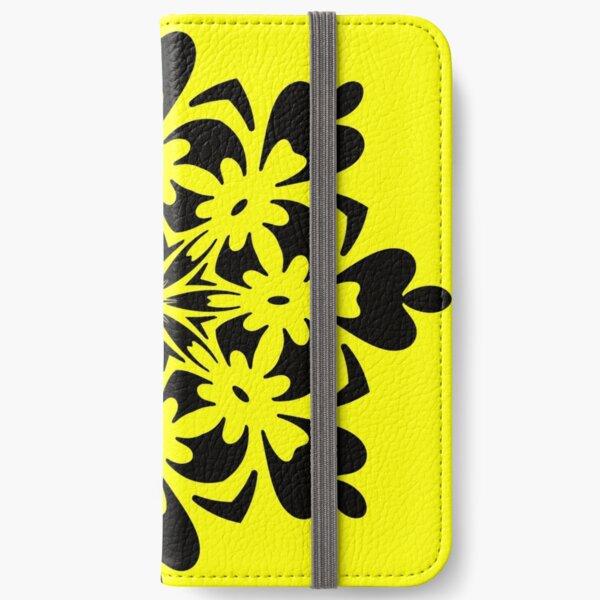 Bright Yellow Mandala by Julie Everhart iPhone Wallet