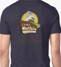 Camp Westfalia, The Road to Adventure Starts Here! T-Shirt