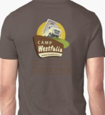 Camp Westfalia, The Road to Adventure Starts Here! Unisex T-Shirt