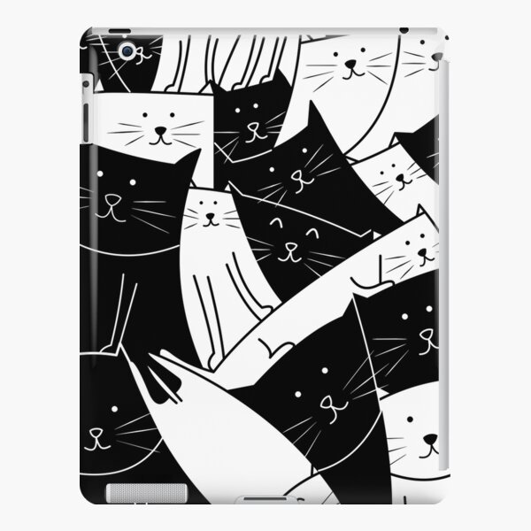 The Cats are Watching B/W iPad Snap Case