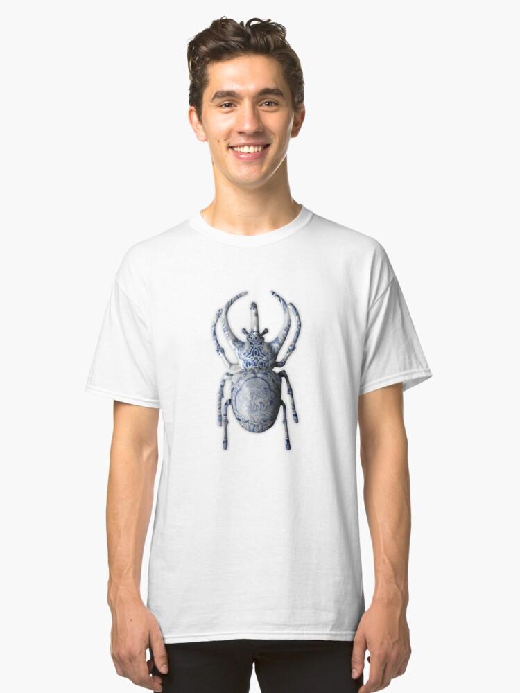 Delft Blue Beetle Bug Classic T-Shirt Front