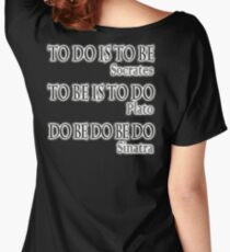 Do be Do be Do,  MUSIC, Frank Sinatra Lyrics, Greek version, on BLACK Women's Relaxed Fit T-Shirt