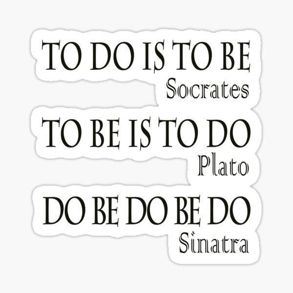 Do be Do be Do,  MUSIC, Frank Sinatra Lyrics, Greek version, on BLACK. Sticker