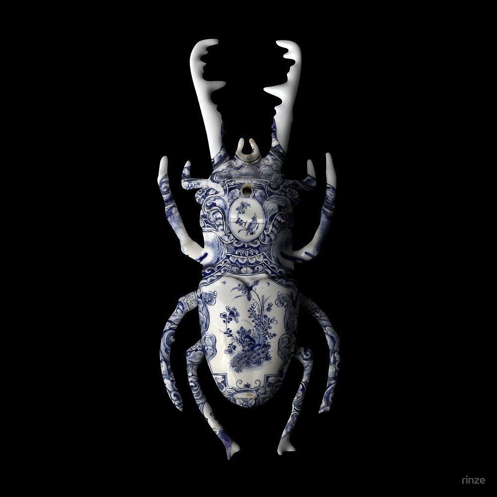 Delft Blue Beetle Bug by rinze