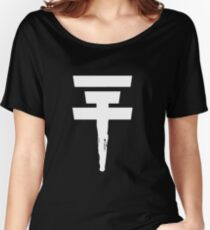 Tokio Hotel Logo (white, once) Women's Relaxed Fit T-Shirt