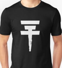 Tokio Hotel Logo (white, once) Slim Fit T-Shirt