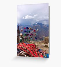 Handicrafts with a view Greeting Card