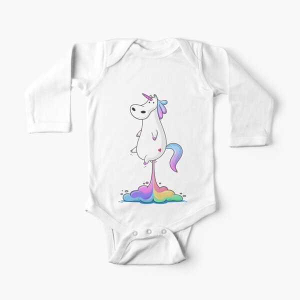 Unicorn Fart Long Sleeve Baby One-Piece