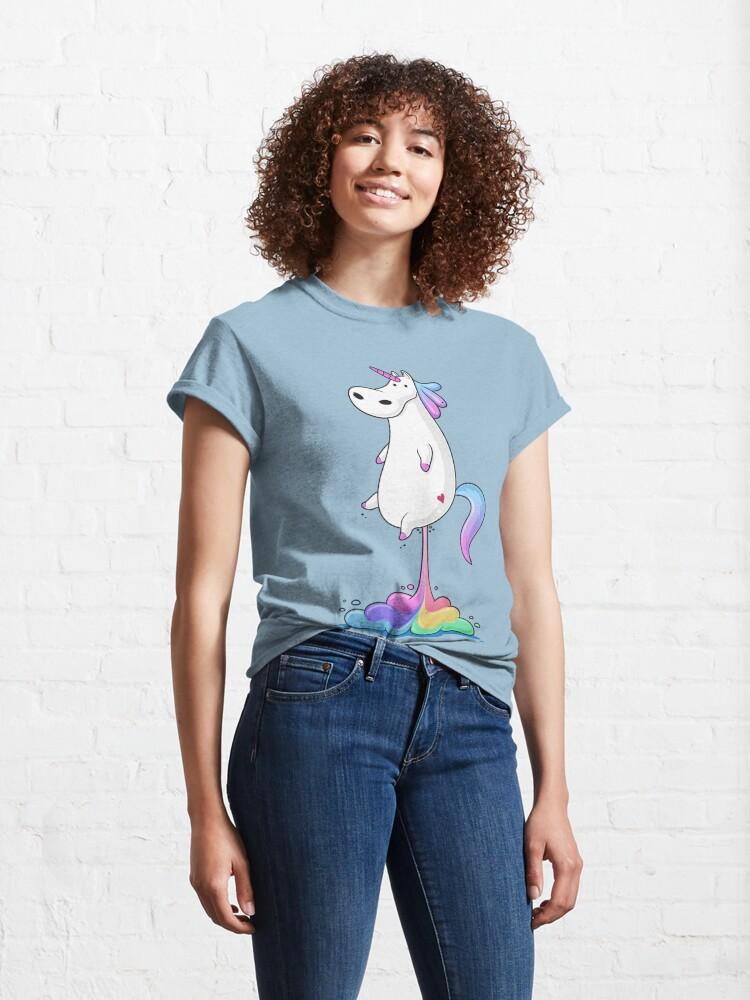 Alternate view of Unicorn Fart Classic T-Shirt
