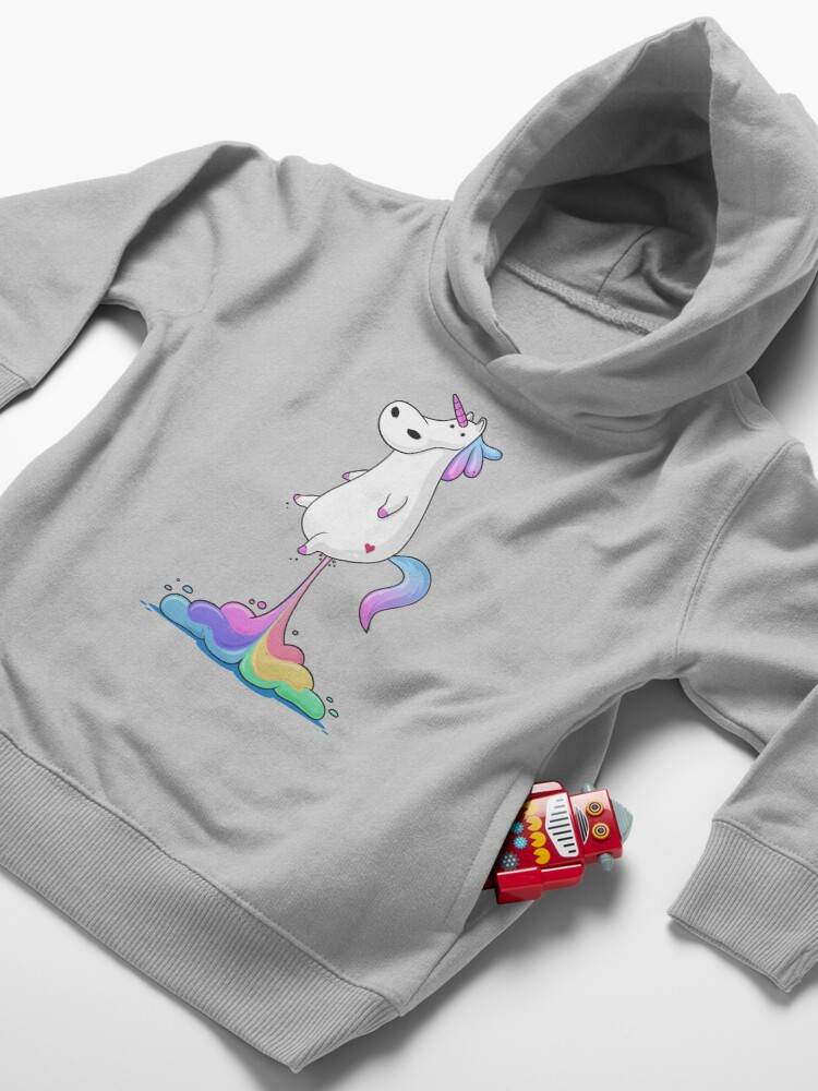 Alternate view of Unicorn Fart Toddler Pullover Hoodie