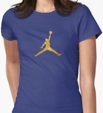 Gold Jordan Logo Womens Fitted T-Shirt