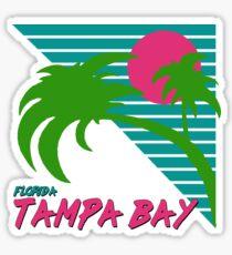 Tampa Bay Florida Retro 80s Sticker