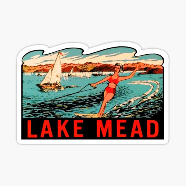 Lake Mead Vintage Travel Decal Sticker