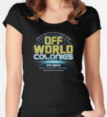 Blade Runner - Shimata Dominguez Off World Colonies Women's Fitted Scoop T-Shirt