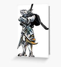 White Dragonborn Paladin Greeting Card