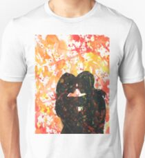 Couple kissing.  Watercolor painting.  Valentine's Day art Unisex T-Shirt